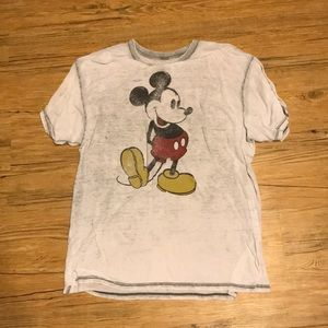 Light Grey Mickey Mouse Top! Worn a couple times!!